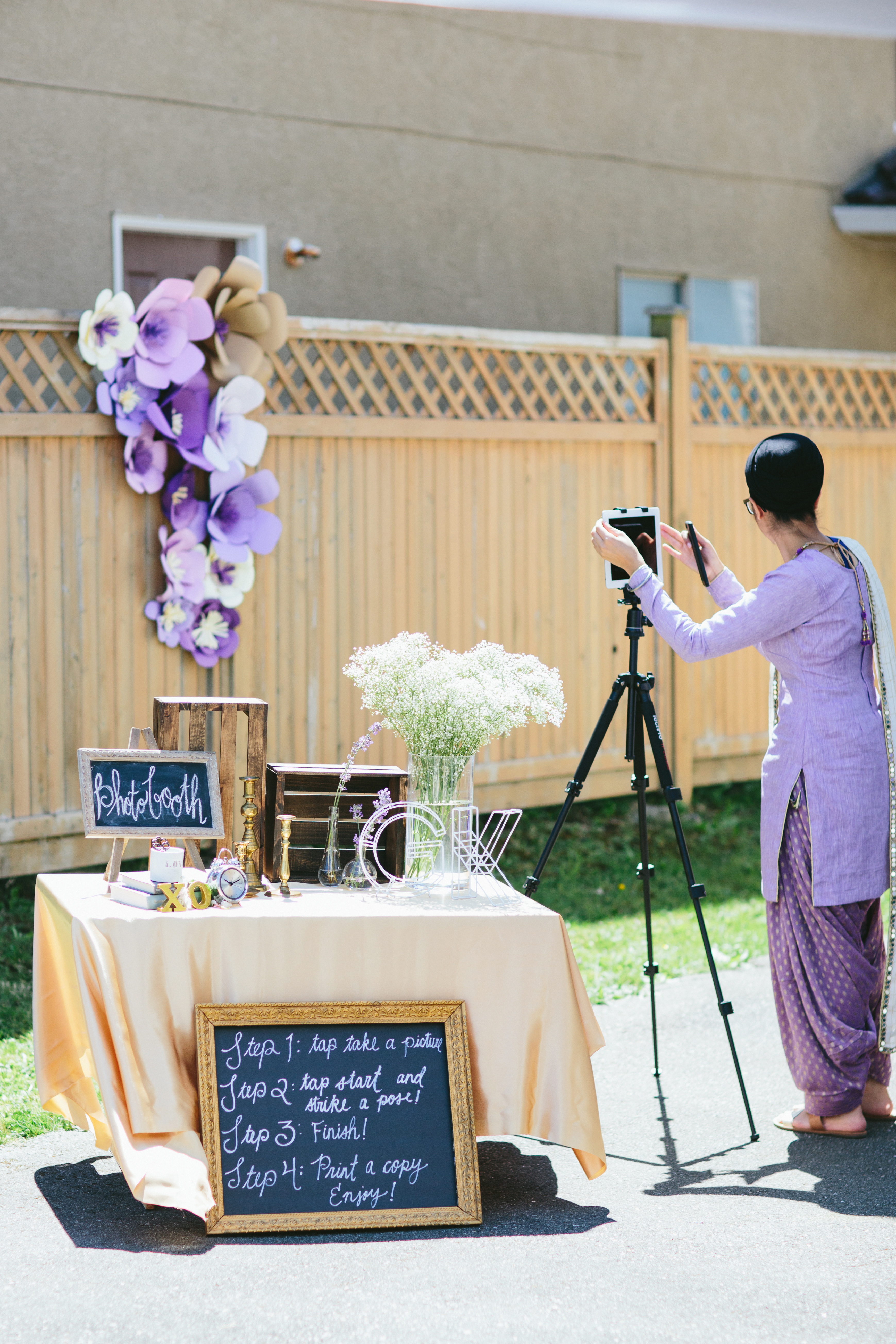 The ultimate easy DIY photo booth for your wedding, bridal shower, birthday party that is super easy to set up and very affordable and fun!