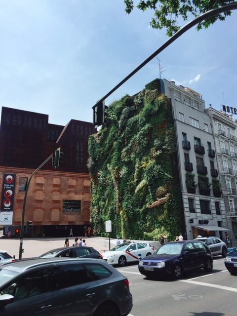 vertical gardens in madrid spain