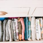 The Konmari Method of Organizing Clothes and Closet Tour