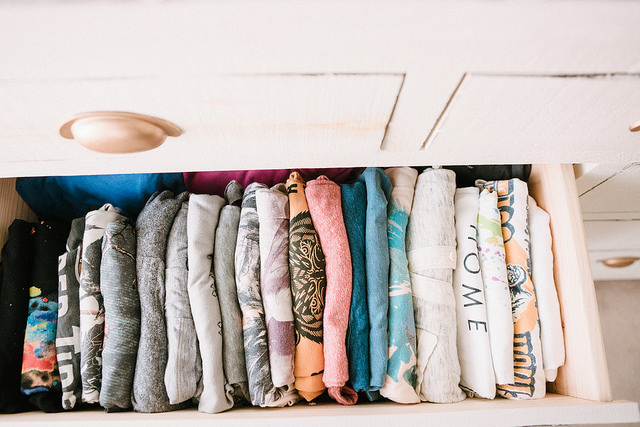 konmari method of organizing clothes and closet tour