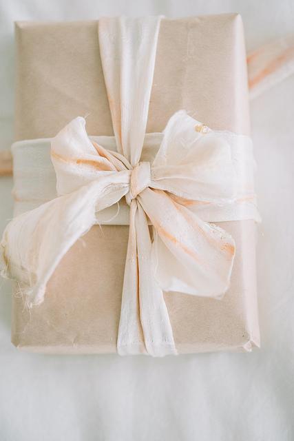 beet dyed silk ribbons