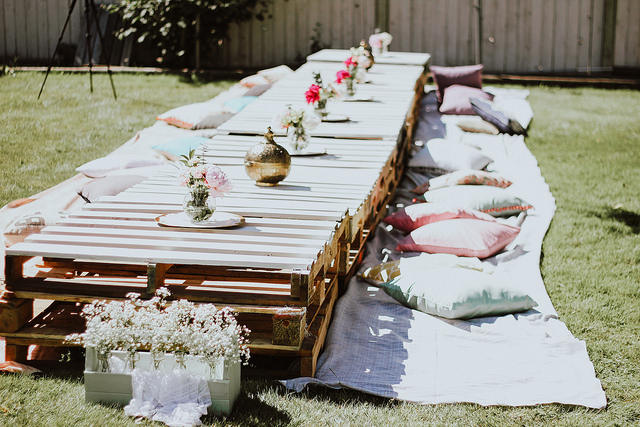 Kamaldeep Kaur backyard bridal shower - boho bridal shower