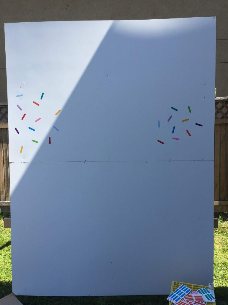 DIY sprinkle backdrop