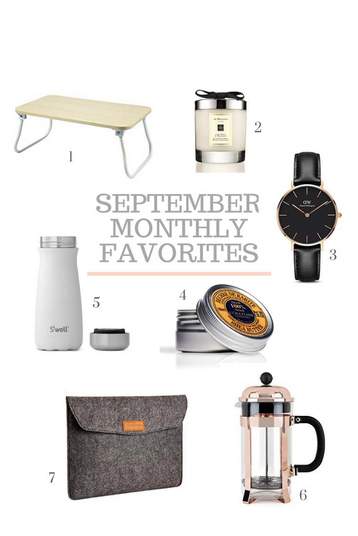 September 2018 Montly Favorites